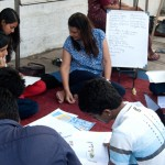 Know your Vote' workshop on the Kala Ghoda pavement to create awareness about elections and candidates.