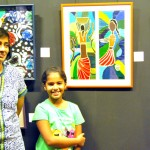Artist Sheetal Gattani interacts with kids at the Dreammaker's show
